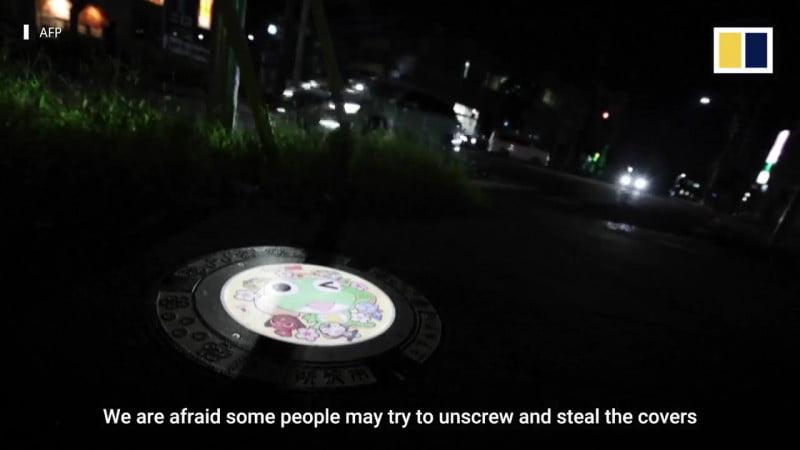 Nhật Bản cải tạo Nắp cống phát sáng hình nhân vật Anime để chống trộm