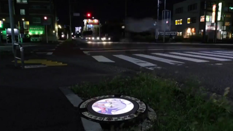 Nắp cống tại Nhật Bản được chụp vào ngày 20 tháng 8.