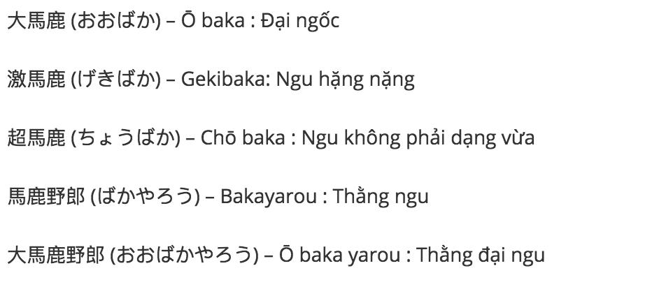 Baka nghĩa là gì? [Định nghĩa, Ý nghĩa]